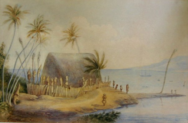 1886 watercolor by Robert C. Barnfield